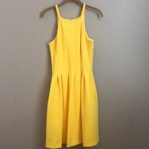 Calvin Klein Yellow pleated dress